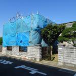 屋根葺き替えに伴いアンテナを一時移動 香川県三豊市にて