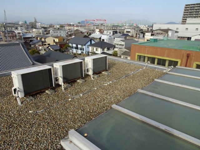 屋上の室外機の様子