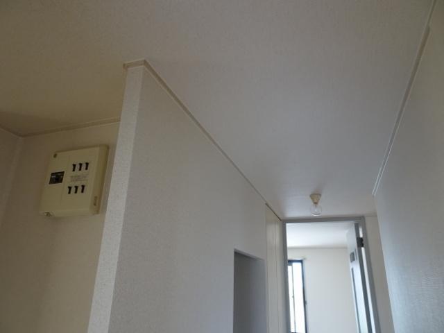 天井のキワを配線予定