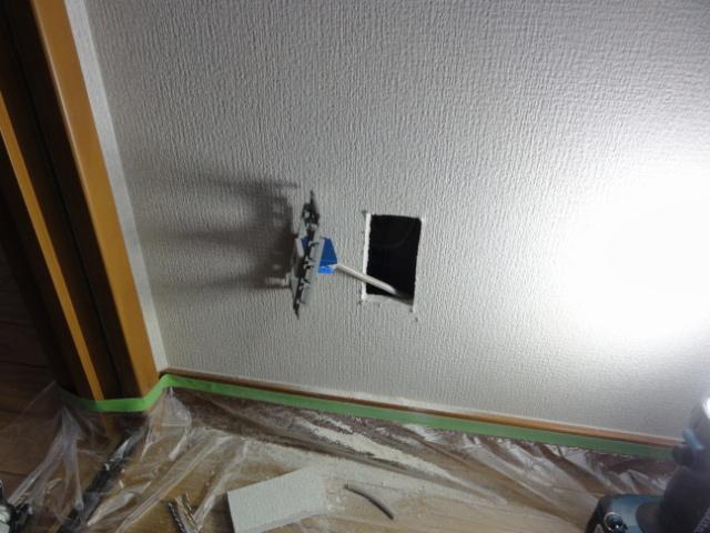 壁にLAN端子新設
