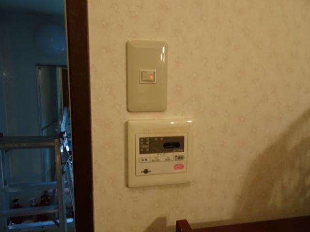 照明スイッチが無事つきました