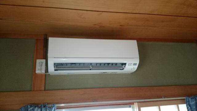 エアコン専用コンセント増設