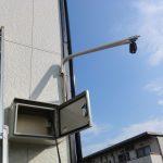 アパート駐車場に防犯カメラの取付工事 香川県丸亀市