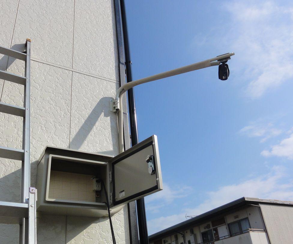 アパート駐車場防犯カメラ