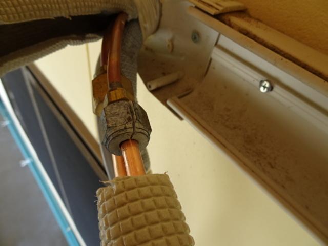 エアコンの補助配管