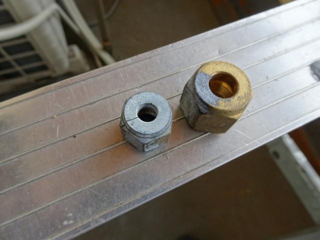 エアコンの配管接続用ナット