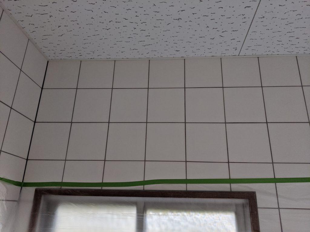 トイレの壁面に換気暖房乾燥機取付