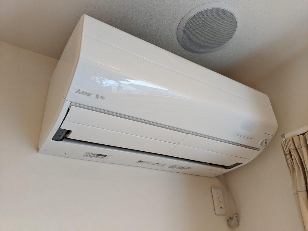 新しいエアコン取付