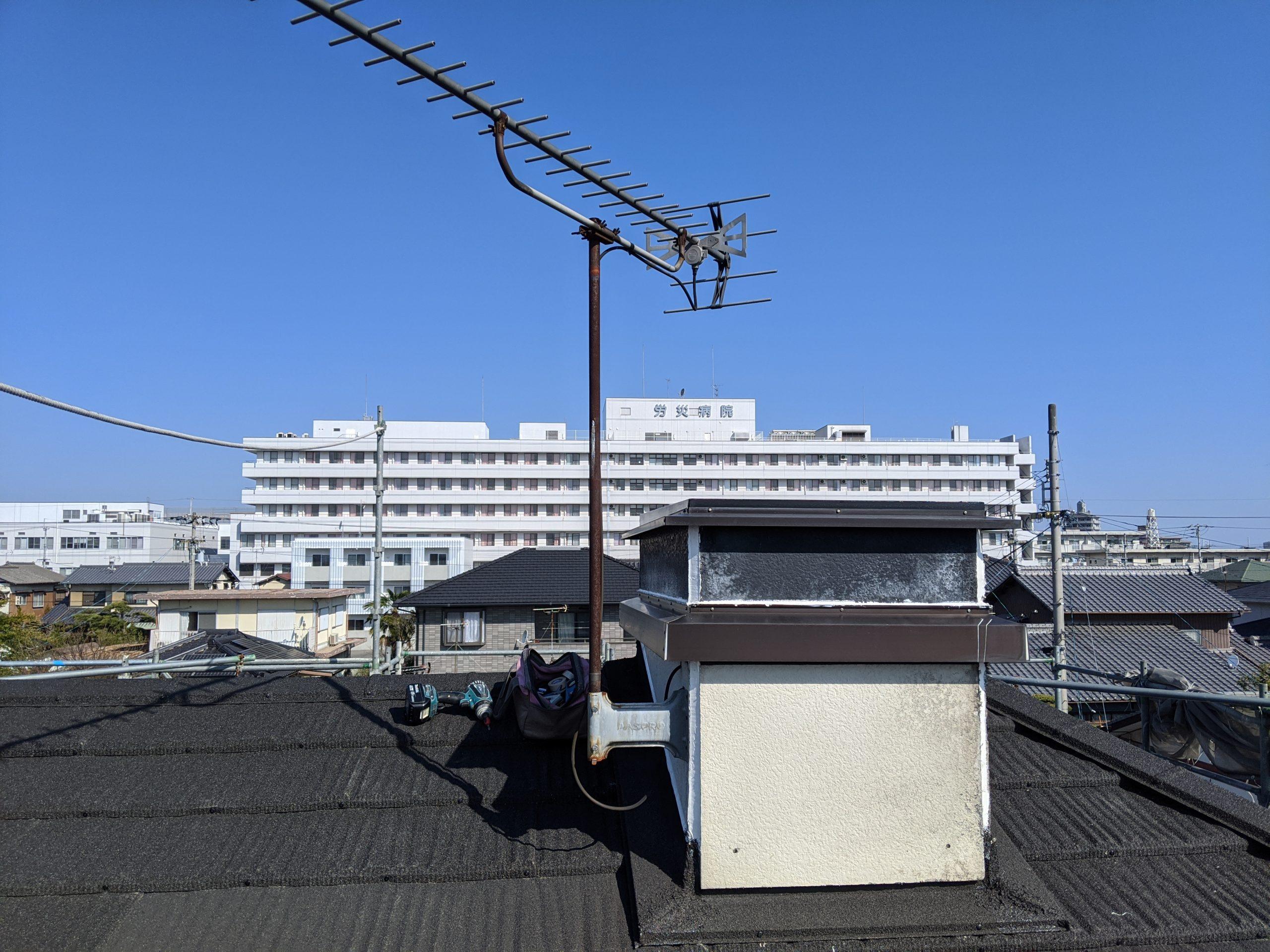 パナホームの煙突に取付けているアンテナ