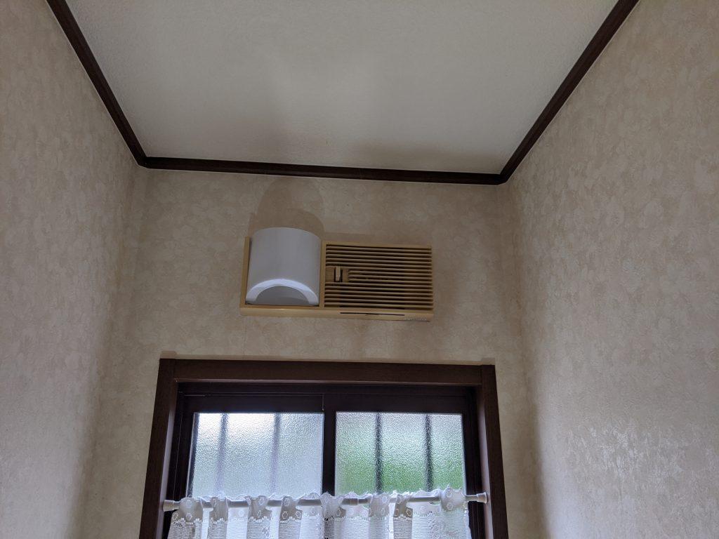 トイレ内のあかりファン換気扇