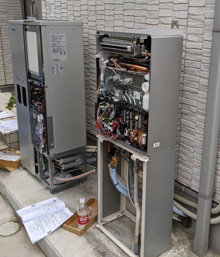 エネファームへの電気配線工事